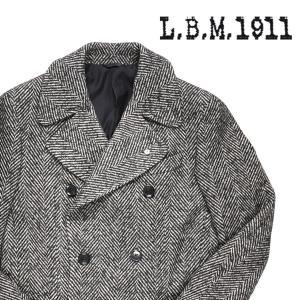 【48】 L.B.M.1911 エルビーエム コート 87024 メンズ 秋冬 ヘリンボーン ネイビー 紺 並行輸入品 アウター トップス|utsubostock