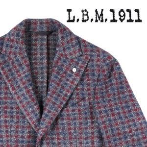 L.B.M.1911(エルビーエム) ジャケット 85092 レッド x ネイビー 50 18676 【W18678】|utsubostock