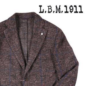 【52】 L.B.M.1911 エルビーエム ジャケット 85090 メンズ 秋冬 チェック ブラウン 茶 並行輸入品 アウター トップス 大きいサイズ|utsubostock
