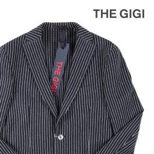 【48】 THE GIGI ザ ジジ ジャケット DEGAS2B メンズ 春夏 ストライプ ネイビー 紺 並行輸入品 アウター トップス|utsubostock