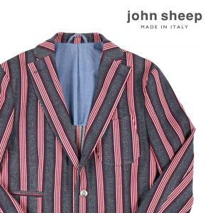 【48】 JOHN SHEEP ジョン・シープ ジャケット メンズ 春夏 ストライプ ネイビー 紺 並行輸入品 アウター トップス|utsubostock