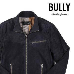 【50】 BULLY ブリー ブルゾン メンズ レザー ネイビー 紺 レザー 並行輸入品 アウター トップス|utsubostock
