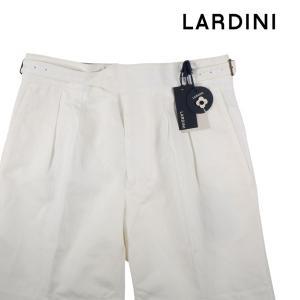 【50】 LARDINI ラルディーニ ハーフパンツ メンズ 春夏 リネン混 ホワイト 白 並行輸入品 ズボン|utsubostock