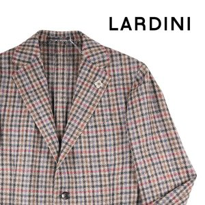 【52】 LARDINI ラルディーニ ジャケット メンズ 秋冬 チェック ベージュ 並行輸入品 アウター トップス 大きいサイズ|utsubostock