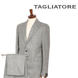 【48】 TAGLIATORE タリアトーレ スーツ 2SVS23B01 メンズ 秋冬 チェック ホワイト 白 並行輸入品|utsubostock