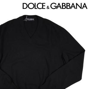 Dolce&Gabbana Vネックセーター メンズ 秋冬 56/4XL ブラック 黒 ドルチェ&ガッバーナ 大きいサイズ 並行輸入品|utsubostock
