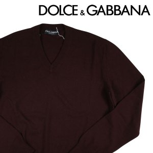 Dolce&Gabbana Vネックセーター HQ0009FOUM1 brown 52 1882BR【W6636】 ドルチェ&ガッバーナ|utsubostock