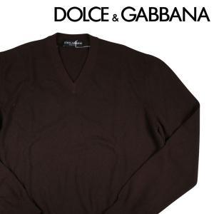 Dolce&Gabbana Vネックセーター HQ0009FOUM1 dark brown 56 1882DBR【W6470】 ドルチェ&ガッバーナ|utsubostock