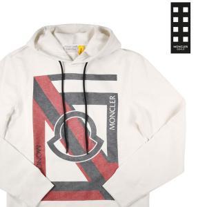 【M】 MONCLER GENIUS モンクレール ジーニアス パーカ メンズ ロゴ ホワイト 白 並行輸入品|utsubostock