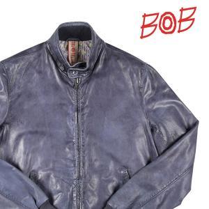 【XXL】 BOB ボブ ブルゾン BARRAC/N メンズ レザー ネイビー 紺 レザー 並行輸入品 アウター トップス 大きいサイズ|utsubostock
