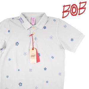【S】 BOB ボブ 半袖ポロシャツ GRAF195 メンズ 春夏 花柄 グレー 灰色 並行輸入品 トップス utsubostock