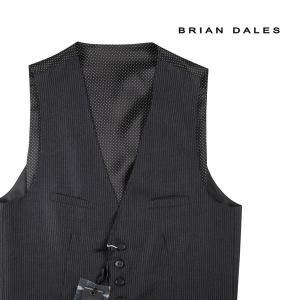 【48】 BRIAN DALES ブライアンデールス ジレ メンズ ストライプ ブラック 黒 並行輸入品 ベスト|utsubostock