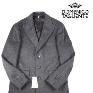 【46】 Domenico Tagliente ドメニコ・タリエンテ チェスターコート メンズ 秋冬 カシミヤ混 グレー 灰色 並行輸入品 アウター トップス|utsubostock