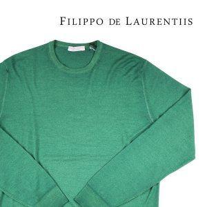【54】 FILIPPO DE LAURENTIIS フィリッポ デ ラウレンティス 丸首セーター メンズ 秋冬 グリーン 緑 並行輸入品 ニット 大きいサイズ|utsubostock
