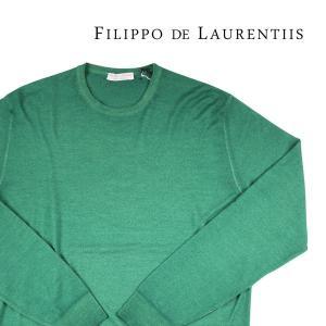 【56】 FILIPPO DE LAURENTIIS フィリッポ デ ラウレンティス 丸首セーター メンズ 秋冬 グリーン 緑 並行輸入品 ニット 大きいサイズ|utsubostock