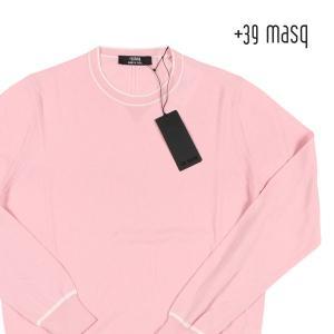 【M】 +39 masq マスク 丸首セーター メンズ 春夏 ピンク 並行輸入品 ニット|utsubostock