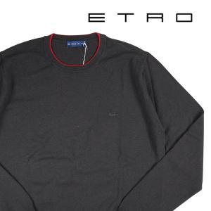 【S】 ETRO エトロ 丸首セーター メンズ 秋冬 グレー 灰色 並行輸入品 ニット|utsubostock