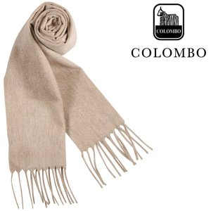 COLOMBO コロンボ マフラー メンズ 秋冬 カシミヤ100% ベージュ 並行輸入品|utsubostock