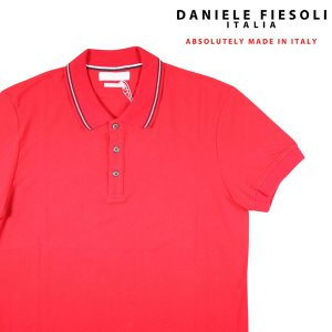 【L】 DANIELE FIESOLI ダニエレフィエゾーリ 半袖ポロシャツ メンズ 春夏 オレンジ 並行輸入品 トップス|utsubostock