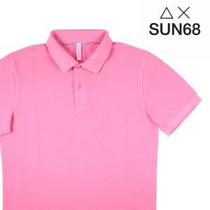 【S】 SUN68 サンシックスティーエイト 半袖ポロシャツ メンズ 春夏 ピンク 並行輸入品 トップス|utsubostock