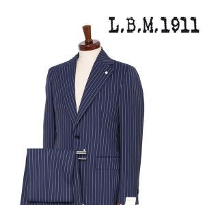 【48】 L.B.M.1911 エルビーエム スーツ 84208 メンズ 春夏 ストライプ ネイビー 紺 並行輸入品|utsubostock