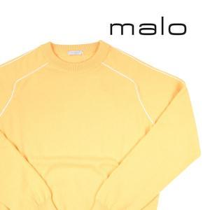 【46】 malo マーロ 丸首セーター メンズ 秋冬 カシミヤ100% イエロー 黄 並行輸入品 ニット|utsubostock