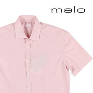 【41】 malo マーロ 半袖シャツ メンズ 春夏 ピンク 並行輸入品 カジュアルシャツ|utsubostock
