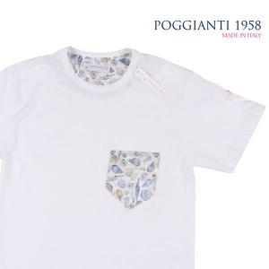 【XL】 POGGIANTI 1958 ポジャンティ 1958 Uネック半袖Tシャツ メンズ 春夏 ホワイト 白 並行輸入品 トップス|utsubostock