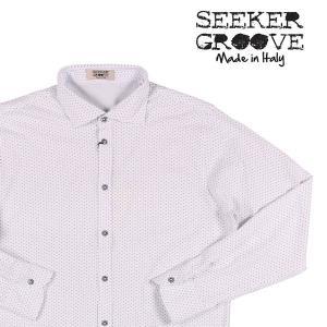 【L】 SEEKER GROOVE シーカーグルーブ 長袖シャツ メンズ ドット ホワイト 白 並行輸入品 カジュアルシャツ|utsubostock