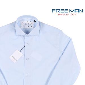 【L】 FREEMAN SARTORIA フリーマンサルトリア 長袖シャツ メンズ ブルー 青 並行輸入品 カジュアルシャツ|utsubostock