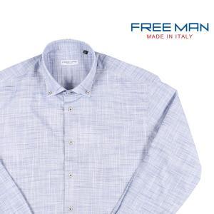 【M】 FREEMAN SARTORIA フリーマンサルトリア 長袖シャツ メンズ 春夏 ブルー 青 並行輸入品 カジュアルシャツ|utsubostock