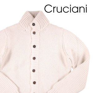 【50】 CRUCIANI クルチアーニ カーディガン メンズ 秋冬 カシミヤ100% ホワイト 白 並行輸入品 ニット|utsubostock