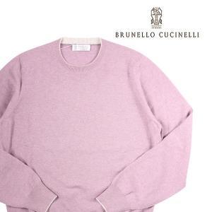【48】 BRUNELLO CUCINELLI ブルネロクチネリ 丸首セーター M2200100 メンズ 秋冬 カシミヤ100% パープル 紫 並行輸入品 ニット|utsubostock