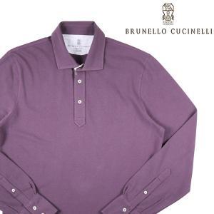 【M】 BRUNELLO CUCINELLI FELLAS 長袖ポロシャツ M0T633976 メンズ パープル 紫 並行輸入品 トップス|utsubostock