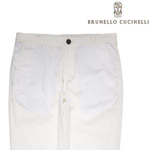 【52】 BRUNELLO CUCINELLI ブルネロクチネリ パンツ M030DR1040 メンズ 春夏 ホワイト 白 並行輸入品 ズボン 大きいサイズ|utsubostock