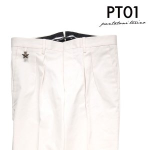 【46】 PT01 ピーティー ゼロウーノ パンツ KW02 メンズ ホワイト 白 並行輸入品 ズボン 【訳あり】|utsubostock