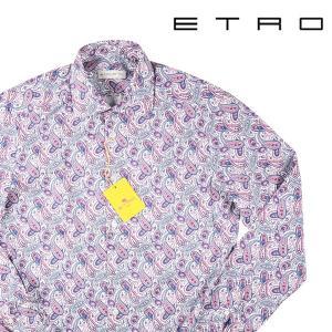 【42】 ETRO エトロ 長袖シャツ メンズ ペイズリー ピンク 並行輸入品 カジュアルシャツ 大きいサイズ|utsubostock