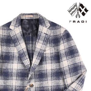 【48】 FRADI フラディ ジャケット メンズ 秋冬 チェック ネイビー 紺 並行輸入品 アウター トップス|utsubostock