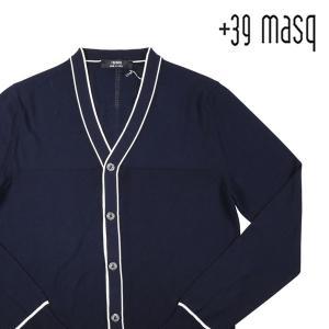 【L】 +39 masq マスク カーディガン メンズ 春夏 ネイビー 紺 並行輸入品 ニット|utsubostock