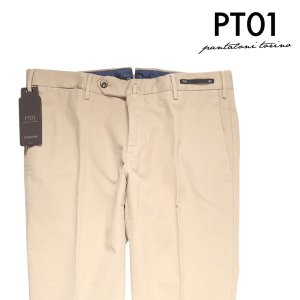 【48】 PT01 ピーティー ゼロウーノ パンツ TU22CODT01Z00CL1 メンズ 春夏 ベージュ 並行輸入品 ズボン 【訳あり】|utsubostock