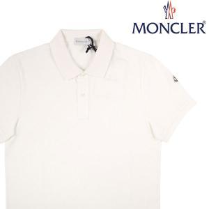 【XXL】 MONCLER モンクレール 半袖ポロシャツ MAGLIA POLO MANICA CORTA メンズ 春夏 ホワイト 白 並行輸入品 トップス 大きいサイズ|utsubostock