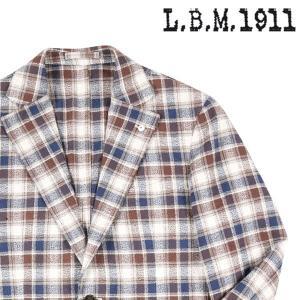 【48】 L.B.M.1911 エルビーエム ジャケット 72778/1 メンズ 春夏 チェック ホワイト 白 並行輸入品 アウター トップス|utsubostock