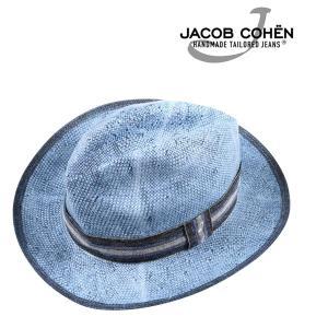 JACOB COHEN ヤコブコーエン ハット JI020 メンズ 春夏 ブルー 青 並行輸入品|utsubostock