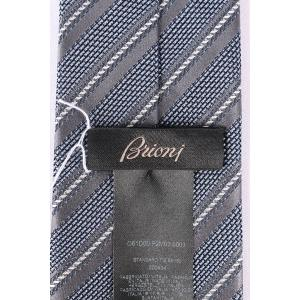 Brioni ブリオーニ ネクタイ O61D00 P2M03 0003 メンズ シルク100% ストライプ ブルー 青 並行輸入品|utsubostock|06