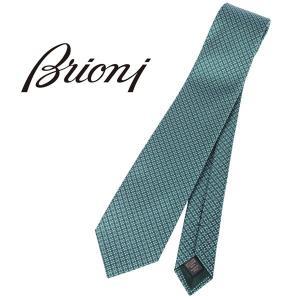 Brioni ブリオーニ ネクタイ O61D00 P2M03 0003 メンズ シルク100% グリーン 緑 並行輸入品|utsubostock