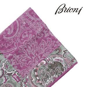 Brioni ブリオーニ ポケットチーフ O71000 P740K 3314 メンズ シルク100% パープル 紫 並行輸入品 utsubostock