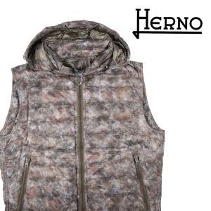 【48】 HERNO ヘルノ ダウンベスト PI0093U-19227P メンズ 秋冬 総柄 カーキ 並行輸入品 アウター トップス utsubostock