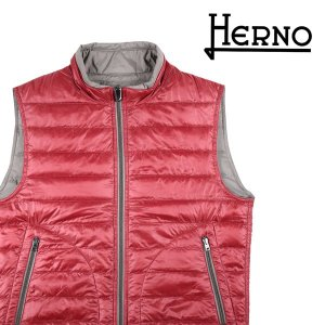 【48】 HERNO ヘルノ ダウンベスト PI0166U--12051 メンズ 秋冬 リバーシブル レッド 赤 並行輸入品 アウター トップス|utsubostock