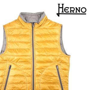 【46】 HERNO ヘルノ ダウンベスト PI0166U--12051 メンズ 秋冬 リバーシブル イエロー 黄 並行輸入品 アウター トップス|utsubostock