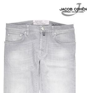 【37】 JACOB COHEN ヤコブコーエン ジーンズ PW688 メンズ グレー 灰色 並行輸入品 デニム 大きいサイズ|utsubostock